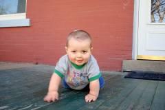 Josiah crawls!