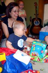 Josiah loves presents!