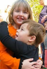 Ava O. & Josiah hug