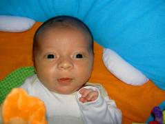 Josiah at three-weeks old