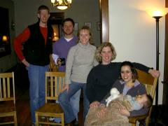 From left to right - Jason, Dave, Jill, Megan, Julianna, Josiah