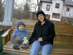 Josiah & Mommy swinging