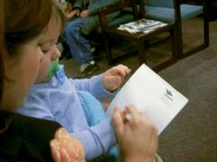 Mommy & Josiah writing, 'Josiah'